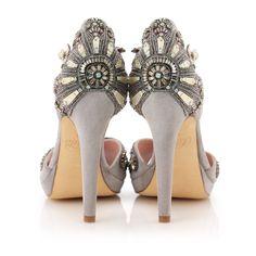Beautiful Jeweled Heels www.mattspourphotographer.com + www.lucytanner.com #weddingshoes
