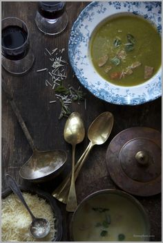 Need a wintertime energy boost? This broccoli and asparagus soup studded with juniper berries will do the trick.