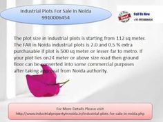Industrial plots for sale in noida 9910006454