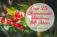 Are you looking for some ideas about how to celebrate the holidays in a more meaningful way? Here are over 25 ideas for experience focused and homemade Christmas gifts.