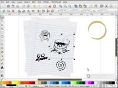 heathenX Inkscape Tutorials: episode 095 - Creating a coffee stain Inkscape Tutorials, Doodle Fonts, Coffee Staining, Vector Graphics, Doodles, Make It Yourself, Create, Scribble, Sketches