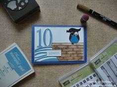 Stampin Up - Geburtstagskarte -Birthday Card - Grusskarte -  Eulenstanze  ♥ StempelnmitLiebe