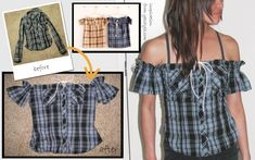 Creating DIY Fashion Trends – Designer Fashion Tips Diy Clothes Refashion, Shirt Refashion, Diy Shirt, Dress Sewing Patterns, Clothing Patterns, Umgestaltete Shirts, Altered Couture, How To Make Clothes, Clothing Hacks
