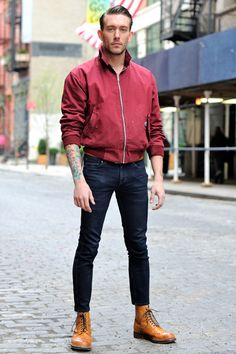 James (Model and PR) Jacket Harrington, Pants by Levi's and Shoes by Grenson..... why is my brother on pinterest?
