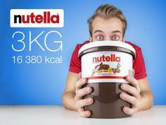 En bøtte med Nutella, 3 kilo Nutella med 16380 kalorier! CoolStuff.no