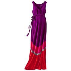 $34.99 Liz Lange® for Target® Maternity Sleeveless Knit Maxi Dress - Purple/Pink/Gray