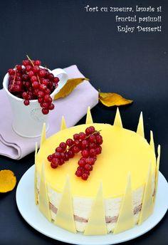 Bolo Original, Passion Fruit Cake, My Dessert, Mousse Cake, Something Sweet, Cake Decorating, Raspberry, Cheesecake, Lemon