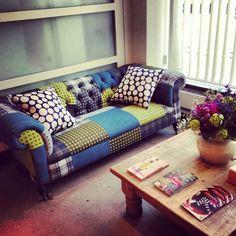 Gorgeous Mixed Fabric Sofa! :)