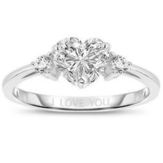 2 CTW Platinum-Plated Heart-Shaped Created Diamond Ring would love to have this