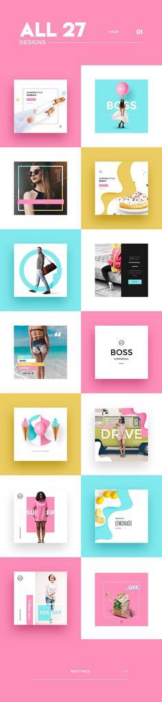 InstaBoss Social Media Pack by Skewline on @creativemarket
