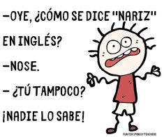 """Planning on using """"Jueves de ja ja ja"""" or """"Día de risas"""" in your classes? Start with these easy to comprehend jokes. Spanish Puns, Funny Spanish Jokes, Spanish Sentences, Funny Friday Memes, Spanish Words, Spanish Lessons, How To Speak Spanish, Learn Spanish, Monday Memes"""