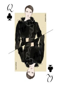 Playing Cards illustration for the fashion brand NENETTE