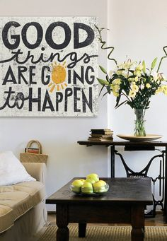 Good things are going to happen! Inspirational artwork from GreatBIGCanvas.com.