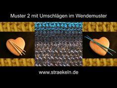 Muster 2 mit Umschlägen im Wendemuster - YouTube