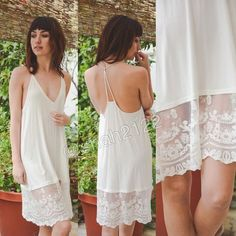 "New Ivory lace tunic top slip dress extender Cami ❌please do not buy this listing, just comment the size and color you want❌.  Add some length to short OR mini dress or top tunic sweater with this beauty. Lace Cami extender slip dress tunic top. can be used as a slip dress or for layering  👉Also available in BLACK. 👉measurements ⭐️S : armpit to armpit :15"" and length :35"" ⭐️M :armpit to armpit :16"" and hem is 35.5 ⭐️L  : armpit to armpit :18"" and length 36.5"" Boutique Tops Camisoles"