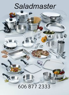 Saladmaster Cookware   316 Stainless Steel, It's Cookware, Bakeware, Servingware & Storageware all in one!
