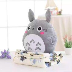 Totoro Pillow, Plush Pillow, Tsumtsum, Cute Stuffed Animals, Cute Pillows, Cute Plush, Cute Toys, Soft Blankets, Hand Warmers