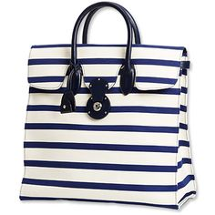 Ralph Lauren Collection Striped Ricky Tote