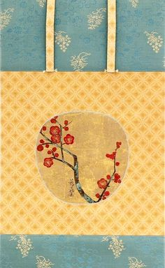 Plum Blossoms, c. 1709–13. Ogata Korin (1658–1716). Fan painting mounted as a hanging scroll; ink and color on gold paper. Honolulu Museum of Art.