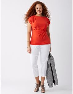 Simply Chic Drapey Tee | Lane Bryant