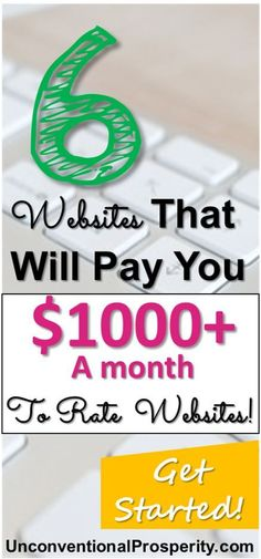 These 6 ways to make $1000+ a month by rating and reviewing websites are awesome! Totally love these sites they are one of the best side hustle ideas that I have ever tried! It is easy to make extra money reviewing these sites. If you are looking to make extra money online then testing websites for user usability is definitely a money making idea that you should try today!