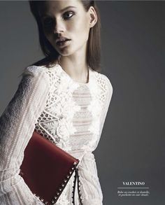 Lovely Valentino. Giedre Dukauskaite featured in the October 2012 issue of Marie Claire 2 France. Shot by Bruno Rpoche.