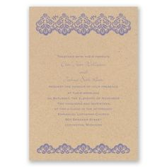 embroidered lace wedding invitation | kraft paper wedding invites at Invitations By Dawn