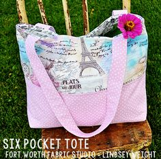 6-Pocket Tote Tutorial  Fort Worth Fabric Studio -- Lindsey Weight #fortworthfabricstudio #fwfabricstudio