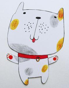 Dog shaped greeting card