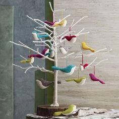 Nice flying felt birds