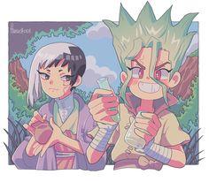 World of Our Fantasy Anime Ai, Anime Demon, Stone Wallpaper, Stone World, Anime Child, Stone Age, Chibi, Geek Stuff, Fan Art
