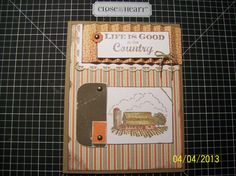 """My new FAVORITE card! Get the supply list on my blog under the """"Project Gallery"""" tab: http://thesassyscrapperinscandy.blogspot.com - Close to my Heart - CTMH"""