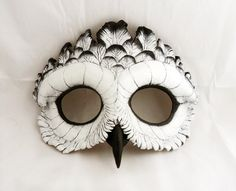 Snowy Owl Leather Mask by LibertiniArts on Etsy, $115.00