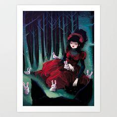 Asleep Art Print by Ludovic Jacqz - $17.68