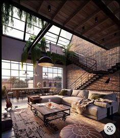 Industrial Interior Design, Industrial House, Home Interior Design, Exterior Design, Interior And Exterior, Modern Industrial, Interior Designing, Gothic Interior, Flat Interior