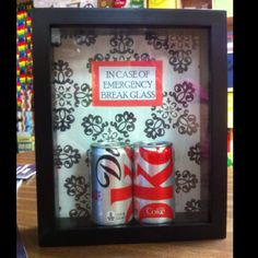 Diet Coke Emergency Kit.... i feel like it should be big enough to hold a 12-pack at the very least, if not a nice big 24-pack :D