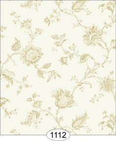 Wallpaper - Cottage 2 - Jacobean - Beige on Ivory