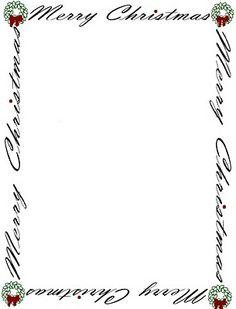 Free Christmas Stationary Templates | FREE Printable Christmas ...