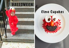 Virginia Feature: Halloween Elmo Cupcakes – Make & Taste