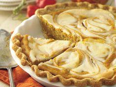 One delightful dessert...two great tastes! Cream cheese swirls are an attractive addition to pleasing pumpkin pie.