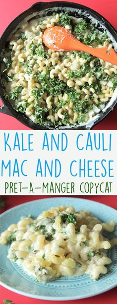 Kale & Cauli Mac & Cheese (Pret-A-Manger Copycat) - This is a great copycat for pret's Kale & Cauli mac that you can make at home anytime you want!