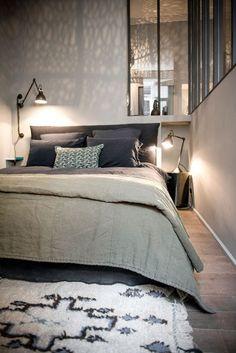 Vintage & Trendy Loft Interior, Master Bedroom Interior, Home Bedroom, Bedroom Decor, Modern Interior, Bedroom Ideas, Stylish Bedroom, Small Bedrooms, Master Bedrooms