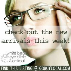 Get the latest styles in glasses from White Bear Eye Clinic & Optical! http://www.gobuylocal.com/offerseo/White_Bear_Lake-MN/White_Bear_Eye_Clinic_and_Optical/2324/526/