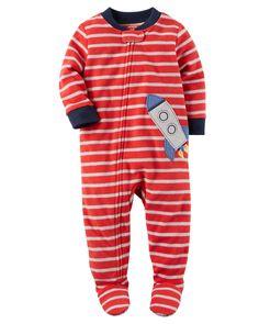 NWT Carters Boys Size 14 Fleece Footed Feety Feet Pajamas Penguin Face pattern