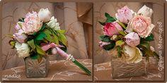Украшение Флористика искусственная Свадьба Моделирование конструирование Пионы Фоамиран фом фото 1