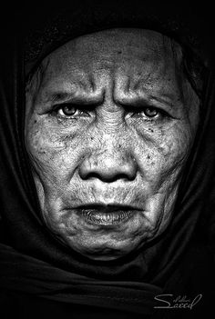 face 22 in Faces of Old People in Black and White Photography