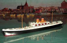 """Wiking Schiff Modell """"Hansa/Deutschland"""" Maßstab 1:1250"""