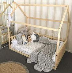 Neutral kids room design ideas, kids room accessories, children bed, toddler bed, house bed, kids teepee, wood house, baby bed, Montessori toys tent bed, children bedroom bed house, nursery bed