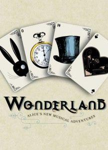 alice in wonderland card concept