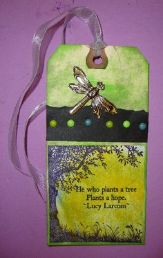 Plant a Tree- Art Tag - can use this as part of an activity for the Girl Scout Cadette Tree Badge